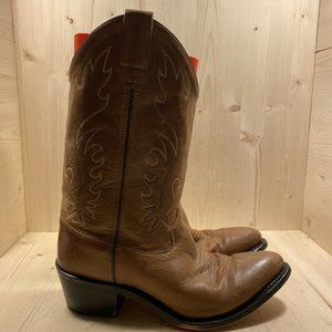 Old West Women's Size 7 Brown Leather Western Cowg